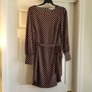 NWT Loft Sz S Fall Belted Dress